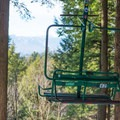 The Green Chair is a retired chairlift chair with a spectacular view.- Cady Hill Forest