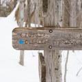The trail has plenty of signage.- Deer Leap Rock