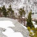 Looking down from the summit.- Deer Leap Rock