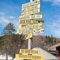 Trail signs at the Nordic Center.- Trapp Family Lodge Cross-country Ski Center