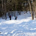 The trailhead at the Catamount Trail.- Michigan Valley