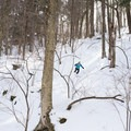 Enjoying the soft spring snow.- Michigan Valley