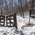 Gate at the trail-head.- Thompson Pond Nature Preserve