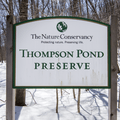 Sign at the preserve entrance.- Thompson Pond Nature Preserve