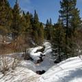 Crossing French Creek near the trailhead.- Sallie Barber Mine
