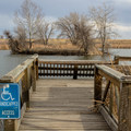 An ADA-accessible viewing dock on Lake Mary.- Rocky Mountain Arsenal National Wildlife Refuge