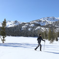 Snowshoeing beside Horseshoe Lake.- Lake Mary Road to Horseshoe Lake