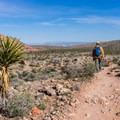 Las Vegas in the distance on the last leg of the loop.- Kraft Mountain Loop Hike