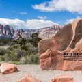 Entrance to the Red Rock Canyon National Conservation Area Scenic Loop.- Scenic Loop Drive