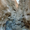 View back into Banshee Canyon.- Rings Loop Trail