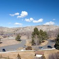 Ample parking is available for the Interpretative Plaza and picnic area.- Missouri Headwaters State Park