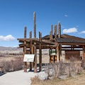 Welcome pavilion at Missouri Headwaters State Park.- Missouri Headwaters State Park