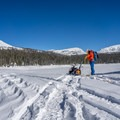 Assessing the route from Trial Lake.- Mount Watson