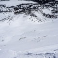 The steep descent options on the east face.- Mount Watson