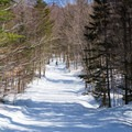 One of many long downhills.- Bolton Valley Nordic Center