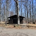 A restroom at the top of B and C loops.- Mathews Arm Campground