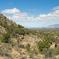 View to the northeast as the trail becomes steeper.- Teutonia Peak Trail