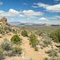 View of Ivanpah Valley and the New York Mountains.- Teutonia Peak Trail
