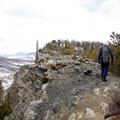 Hiking along the exposed ridge. - Mount Royal