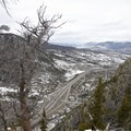 Interstate 70 and the exit to the Town of Frisco over 1,000-feet below. - Mount Royal