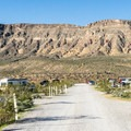 Typical campground road.- Red Rock Campground