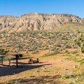 All sites have great views of the surrounding hills.- Red Rock Campground