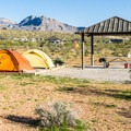 About half of the sites have picnic shelters.- Red Rock Campground
