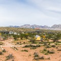 Walk-in tent site area.- Red Rock Campground