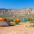 Walk-in tent camping area.- Red Rock Campground