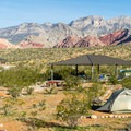 One of the reservable group camping areas.- Red Rock Campground