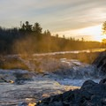St. Louis River at sunset in Jay Cooke State Park.- Jay Cooke State Park