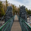 Swing bridge in Jay Cooke State Park.- Jay Cooke State Park