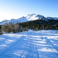 All roads and signage along this popular summer trail are hidden beneath snow during the winter.- Minaret Vista