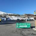 Parking can get crowded for the ski resort. - Minaret Vista
