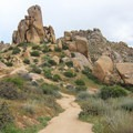 The rolling hills of enormous boulders are the highlight of this hike.- Tom's Thumb