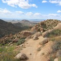 Amazing views of the desert await you on your hike back to the trailhead.- Tom's Thumb