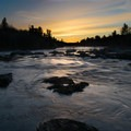 Sunset over the St. Louis River in Jay Cooke State Park.- Jay Cooke State Park