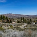 Climb to views over the base of the Eastern Sierra and views over the Carson Valley.- Kings Canyon Waterfall