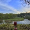 Breakfast with a view.- Manistee River Trail Loop