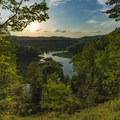 Bluff View at Sunset.- Manistee River Trail Loop