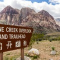 Pine Creek Trailhead is on the Scenic Loop Drive.- Pine Creek Canyon Hike