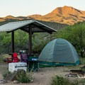Tent camping at Burro Creek.- Burro Creek Campground