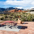 Picnic area near the visitor center, dedicated to veterans.- Red Rock Canyon National Conservation Area
