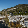 The Provo River and its floodplain.- Pine Valley Snowshoeing