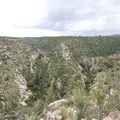 The view of Walnut Canyon from the visitor center.- Walnut Canyon National Monument