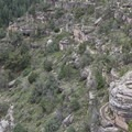 The Island Trail is visible at the center of this picture.- Walnut Canyon National Monument