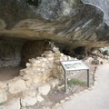 Observing the dwellings up close.- Walnut Canyon National Monument