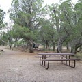 A picnic area near the visitor center.- Walnut Canyon National Monument