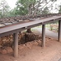 A Native American pithouse. This is also ADA accessible and located near the parking area.- Walnut Canyon National Monument