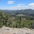 View to the northwest from the 0.1 mile Scenic Trail near the top of Summit Trail- Alderfer/Three Sisters Park Loop